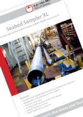 Seabed Sampler XL for high quality soil samples