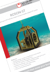 ROSON-ST compact & easy to handle seabed system
